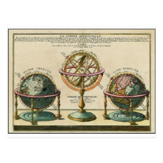 Astronomer's ancient object, the armillary sphere postcard