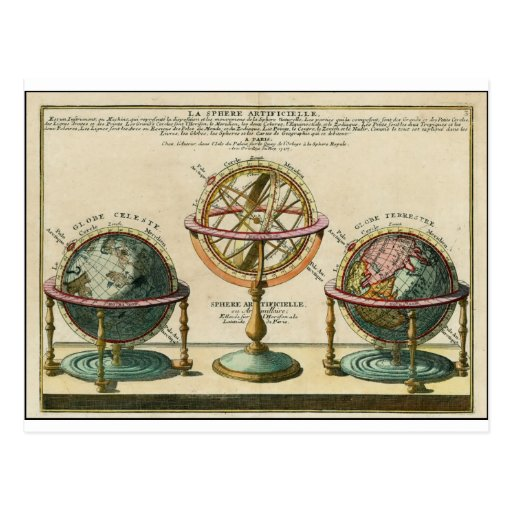 Astronomer's ancient object, the armillary sphere post cards