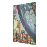 Astronomers looking through a telescope gallery wrap canvas