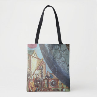 Astronomers looking through a telescope tote bag