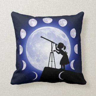 Astronomer's Moon Phase Astronomy cushion. Cushion