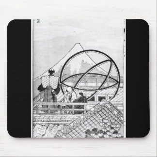 Astronomers working during Edo Period Mouse Mat