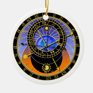 astronomical clock christmas ornament