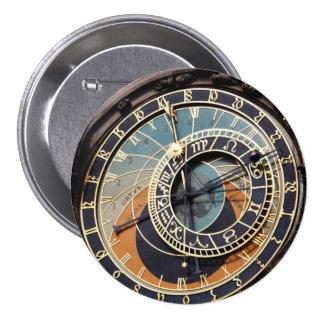 Astronomical Clock In Prague 7.5 Cm Round Badge
