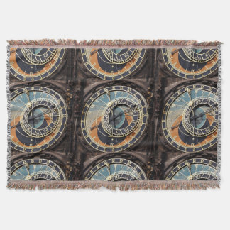 Astronomical Clock In Prague Throw Blanket