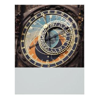 Astronomical Clock In Praque 21.5 Cm X 28 Cm Flyer