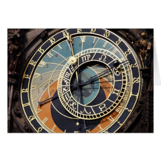 Astronomical Clock In Praque Greeting Card