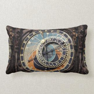Astronomical Clock In Praque Lumbar Pillow