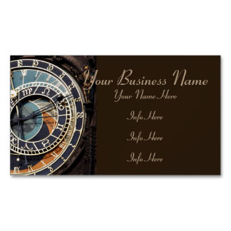 Astronomical Clock In Praque Magnetic Business Cards