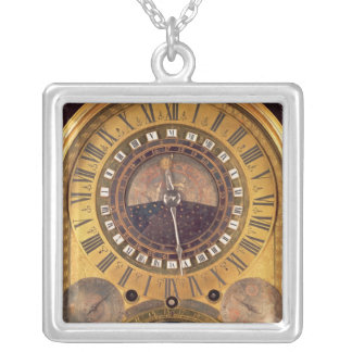 Astronomical clock made for the Grand Dauphin Silver Plated Necklace