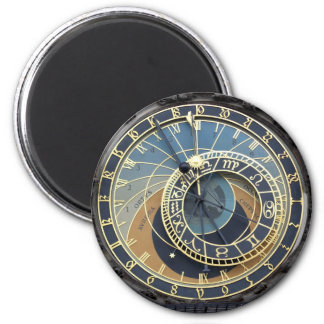 Astronomical Clock or Prague Orloj 6 Cm Round Magnet