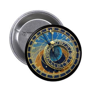 Astronomical Clock-Prague Orloj 6 Cm Round Badge
