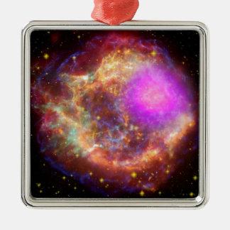 Astronomical wonder Silver-Colored square decoration