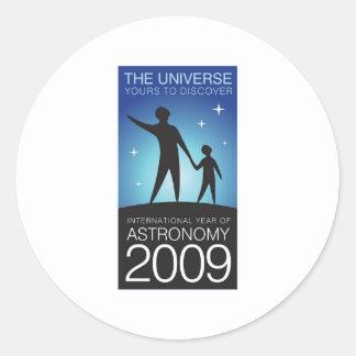 Astronomy 2009 classic round sticker
