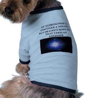astronomy and engineering dog tee