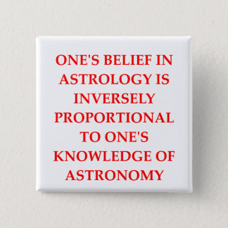astronomy astrology joke 15 cm square badge