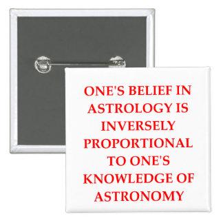 astronomy astrology joke 15 cm square badge