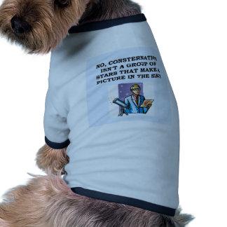 astronomy astronomer pet t-shirt