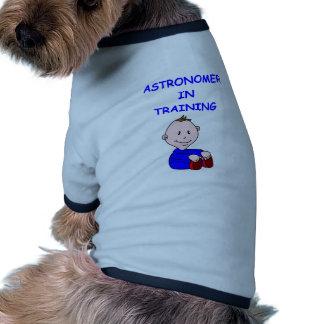 astronomy baby dog t shirt