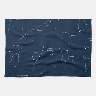 astronomy background tea towel
