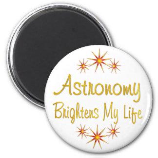 Astronomy Brightens My Life 6 Cm Round Magnet