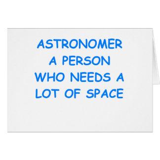 astronomy card