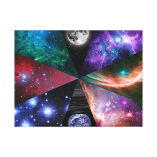 Astronomy Collage Canvas Print