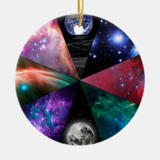 Astronomy Collage Christmas Ornament