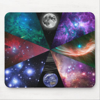 Astronomy Collage Mouse Mat