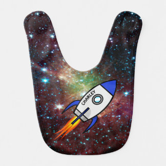 Astronomy custom name and text rocket bib