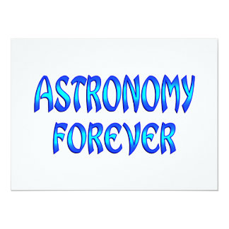 Astronomy Forever 5.5x7.5 Paper Invitation Card
