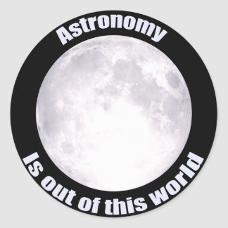 Astronomy Full Moon Classic Round Sticker
