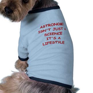 astronomy joke dog tshirt