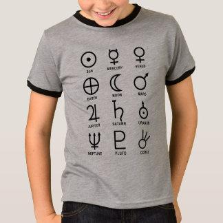 Astronomy Planet Symbols T-Shirt