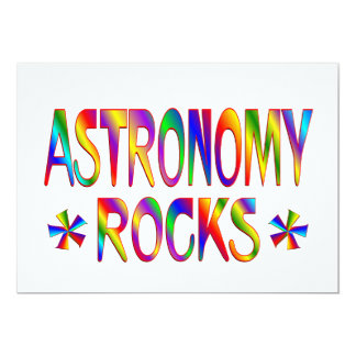Astronomy Rocks 13 Cm X 18 Cm Invitation Card