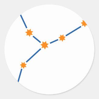 astronomy-virgo-2 classic round sticker