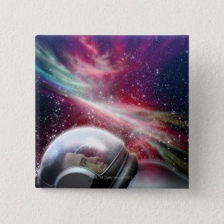 Astronuat 15 Cm Square Badge