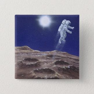 Astronuat above Mercury 15 Cm Square Badge