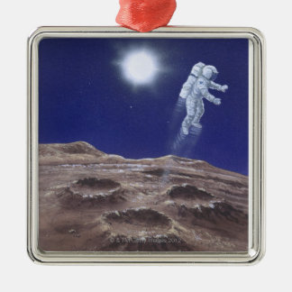 Astronuat Above Mercury Christmas Ornament