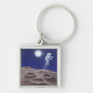 Astronuat Above Mercury Key Ring