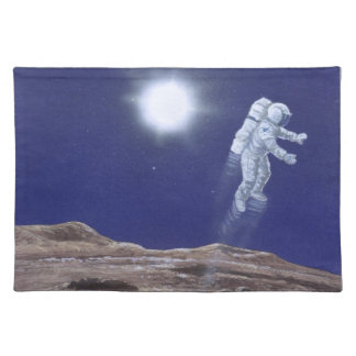 Astronuat above Mercury Placemat