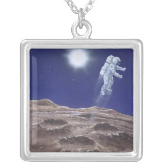 Astronuat Above Mercury Silver Plated Necklace