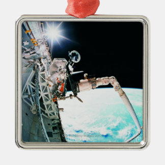 Astronuat Working in Space Christmas Ornament