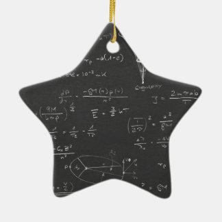 Astrophysics diagrams and formulas christmas ornament