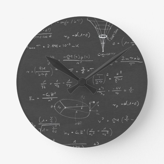 Astrophysics Diagrams And Formulas Round Clock