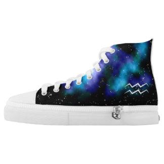 AstroStars Series - Aquarius Zodiac Shoe Design