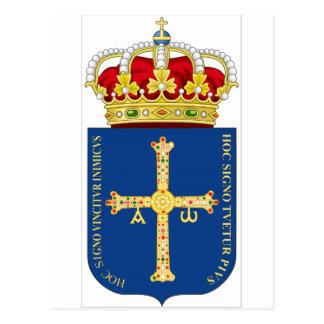 Asturias Coat of Arms Spain Post Card