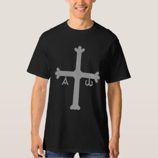 Asturias Cross with Alpha and Omega Shirt