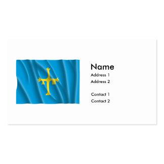 ASTURIAS FLAG BUSINESS CARD TEMPLATES