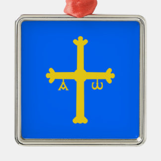 Asturias (Spain) Flag Christmas Ornament